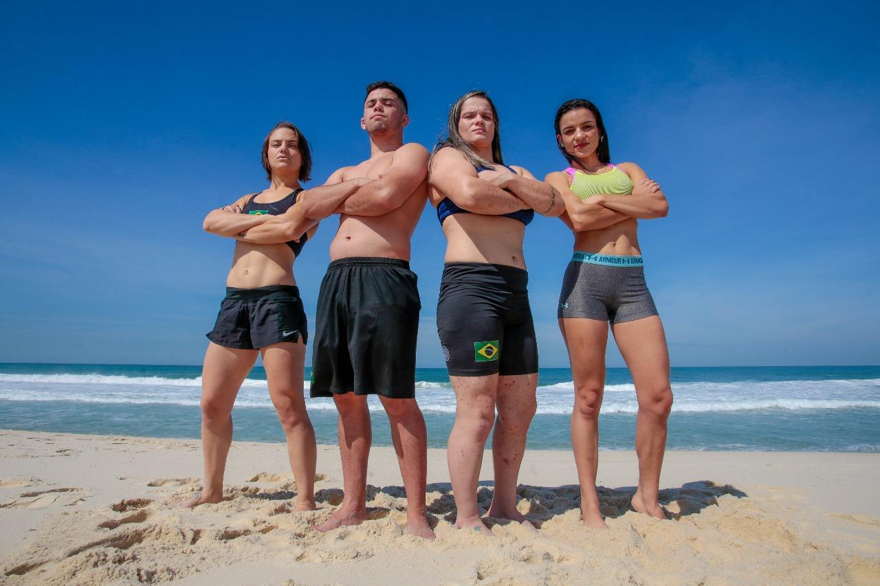 São José Wrestling conquista três ouros no Circuito Mundial de Beach Wrestling, no Rio de Janeiro